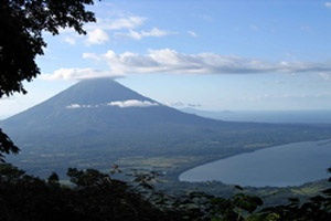 Ometepe island map - Cocibolca lake